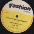 ASHER SENATOR / ABBREVIATION QUALIFICATION . FAST FASHION ORIGINATION